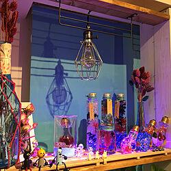 部屋全体/紫色LED/ドライフラワー/イベント用/パープル...などのインテリア実例 - 2017-10-09 22:17:20