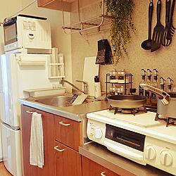 キッチン/1K/賃貸/一人暮らし/モノトーン...などのインテリア実例 - 2018-08-29 16:53:54