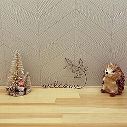 ハリネズミの置き物/クリスマス雑貨/クリスマス/minneで購入♡/minne...などのインテリア実例 - 2020-10-23 09:12:08