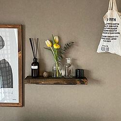 季節を感じる暮らし/ディスプレイ棚/簡単DIY/リビング壁面/花を飾る...などのインテリア実例 - 2020-03-21 09:03:07