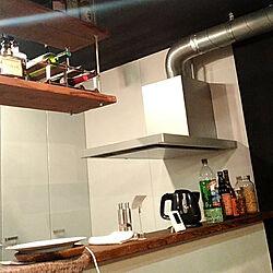 キッチン/WOODPRO足場板/漆喰壁DIYのインテリア実例 - 2020-09-12 06:42:36