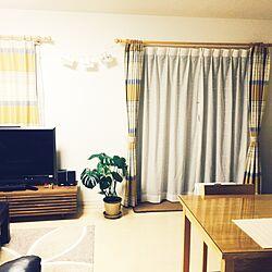建売住宅/unico カーテン/観葉植物/unico /部屋全体のインテリア実例 - 2015-04-26 23:45:05