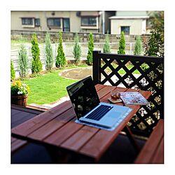 ウッドデッキ/MacBook Pro/庭/植物のインテリア実例 - 2013-07-28 15:51:05