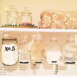 バス/トイレ/洗濯機上の棚/洗剤/詰替ボトルのインテリア実例 - 2015-09-23 09:07:48