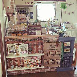 キッチン/すのこDIY/カフェ風キッチン/カウンター/キャンドゥ...などのインテリア実例 - 2016-06-03 16:29:45