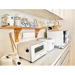 マリメッコマグ/キッチン背面/バルミューダートースター/キッチン家電/ホワイト家電...などのインテリア実例 - 2021-01-07 15:57:49