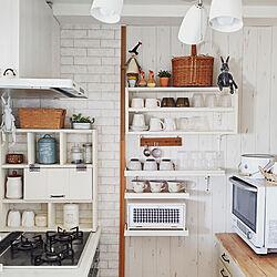キッチン/キッチンの棚/棚DIY/ナチュラルキッチン/ホワイトキッチン...などのインテリア実例 - 2020-08-20 19:02:18