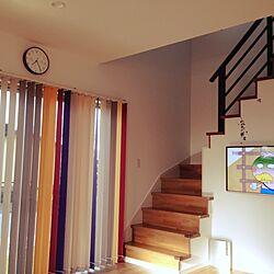 リビング/縦型ブラインド/セリア/階段入り口のインテリア実例 - 2014-04-10 20:00:38