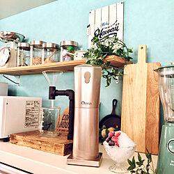 キッチン/自動かき氷機/RESTAの壁紙/ブレンダー/ブルーノ...などのインテリア実例 - 2017-08-16 19:46:46