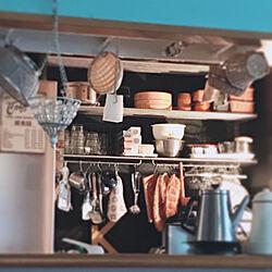 効率的に家事がしたい/食器棚がない/ごちゃごちゃ/吊り下げる/オープン収納...などのインテリア実例 - 2019-06-29 09:55:08