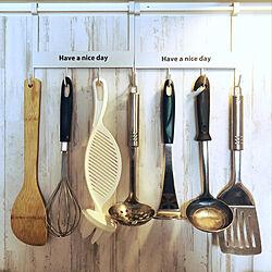 キッチンスツールつりさげ/ミーツ/キッチンのインテリア実例 - 2020-04-28 13:00:51