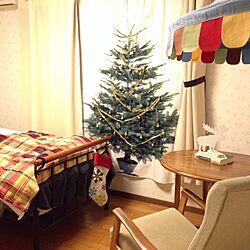 部屋全体/子供部屋/アイアンベッド/揺り椅子/クリスマスツリー...などのインテリア実例 - 2013-11-12 19:00:04