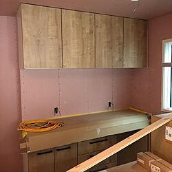キッチン/ライトグレイン/リクシル/建築中/2×4工法...などのインテリア実例 - 2018-06-11 15:13:42