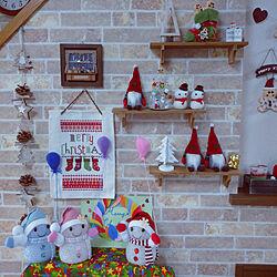 部屋全体/クリスマス/コメントお気遣いなく♡/かぎばり編み/ハンドメイド...などのインテリア実例 - 2019-12-12 14:52:38