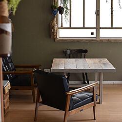 ダイニングテーブル/壁紙DIY/DIY/リメイク/ペイント...などのインテリア実例 - 2021-06-08 17:46:34