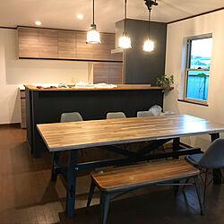部屋全体/Skogsta/IKEA/ダイニングテーブル/中古物件...などのインテリア実例 - 2018-10-01 21:49:27