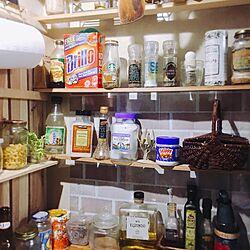 キッチン/かわりばえしない投稿すみません。/棚DIY/調味料/似たような写真ですみません...などのインテリア実例 - 2017-04-12 21:12:53