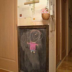 壁/天井/手作り黒板/ベニヤ板リメイク/ウォルナットのインテリア実例 - 2014-02-06 20:45:55
