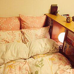 ベッド周り/1K/大学生/一人暮らし/照明...などのインテリア実例 - 2014-04-21 21:02:03