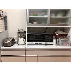 キッチン/電気ケトル/オーブンレンジ/キッチン 棚/シンプル...などのインテリア実例 - 2018-09-17 18:06:13