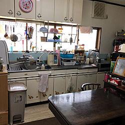 やる気なしキッチン/丸見えキッチン/昭和の家/キッチン/まもなくリフォーム開始...などのインテリア実例 - 2021-05-09 00:04:10