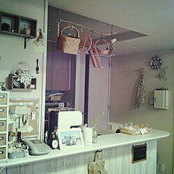 キッチン/壁紙屋本舗/かご/そうめん箱リメイクのインテリア実例 - 2013-10-30 05:14:16