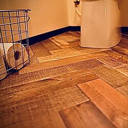 ヘリンボーンの床/トイレ床DIY/トイレ/いいね、フォロー本当に感謝デス☺︎/α6400...などのインテリア実例 - 2021-06-17 19:42:17