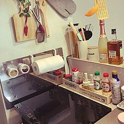 キッチン/一人暮らし 女/アイリスオーヤマのIH/一人暮らし コンロ/一人暮らしキッチン...などのインテリア実例 - 2019-01-31 05:32:36