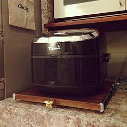 キッチン/キッチン収納 DIY/炊飯器の下はゴミ箱とか置き場/炊飯器/DIY...などのインテリア実例 - 2014-08-26 12:41:47