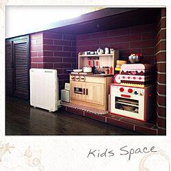 リビング/おままごとキッチン/キッズスペース/レンガ壁のインテリア実例 - 2013-07-27 18:44:22