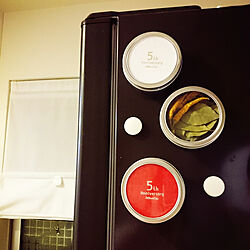 キッチン/RoomClip5周年/コースター/Daiso/冷蔵庫のマグネット...などのインテリア実例 - 2017-07-29 20:08:24