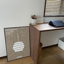 タブレット/卓上カレンダー/パソコンデスク/IKEA/モノトーン好き...などのインテリア実例 - 2021-01-13 09:08:54