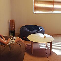 リビング/たたみの部屋/丸テーブル/折りたたみテーブル/倉敷帆布...などのインテリア実例 - 2017-09-03 15:50:17
