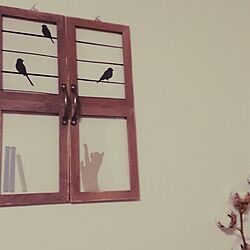 壁/天井/100均/セリア/手作り/窓風...などのインテリア実例 - 2014-02-28 16:47:02