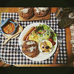 机/おうちカフェ/北欧食器/手作り/手作りパン...などのインテリア実例 - 2015-04-10 18:09:58