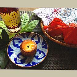 刺し子/和食器/おやつ/手刺繍/ほおずきのインテリア実例 - 2013-08-15 14:23:19