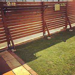 芝生/アンティークレンガ/ガーデン/アイアン/物干し竿...などのインテリア実例 - 2017-07-07 15:45:24
