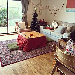 クリスマスツリー/カフェ風/IKEA/13畳/中古を買ってリノベーション...などのインテリア実例 - 2020-12-25 14:57:01