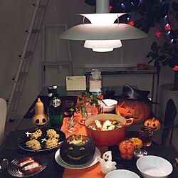 ハロウィンメニュー/かぼちゃのおばけ/ハロウィンディスプレイ/ジャックオランタン/DIY...などのインテリア実例 - 2016-10-31 21:36:58