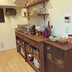 DIY/キッチンカウンター/キッチンのインテリア実例 - 2021-05-09 08:43:45