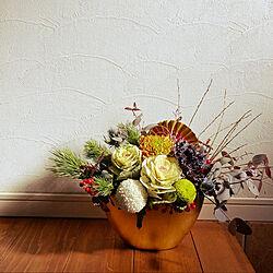 お正月ディスプレイ/お正月インテリア/お正月のお花/お正月/花のある暮らし...などのインテリア実例 - 2021-01-20 21:33:18