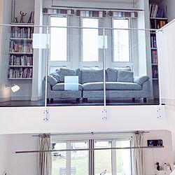 グレーのソファー/ソファ/造作棚/強化ガラス/ホール...などのインテリア実例 - 2020-05-16 16:36:59