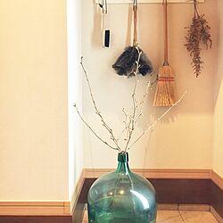 玄関/入り口/デミジョンボトル/デミジョンガラスボトル/ヒュウガミズキ/ガラス瓶...などのインテリア実例 - 2016-12-29 12:07:14