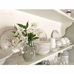 キッチン/2017.05.04/フラワーベース/お皿/背面収納DIY...などのインテリア実例 - 2017-05-04 09:28:39