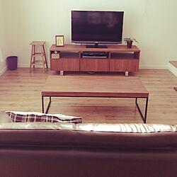 リビング/unico/フランフランのコーヒーテーブル/アイアン大好き♡のインテリア実例 - 2014-07-03 14:36:43