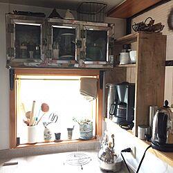 キッチン/小窓/L型 キッチン/古い物好き/駄菓子ケース...などのインテリア実例 - 2015-04-11 10:38:23