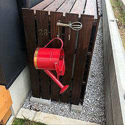 赤いじょうろ/すのこDIY/パパの手作り/すのこリメイク/ガルバリウム鋼板...などのインテリア実例 - 2020-04-24 22:22:20