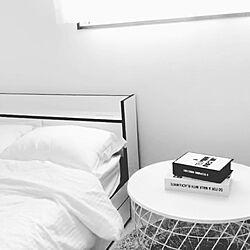 一人暮らし/ニトリ/IKEA/モノトーン/ベッド周りのインテリア実例 - 2018-11-30 21:11:10