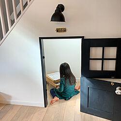 リビング/造作ドア/階段下収納の小部屋/キッズスペースはリビングです/キッズスペース...などのインテリア実例 - 2019-01-19 11:24:28