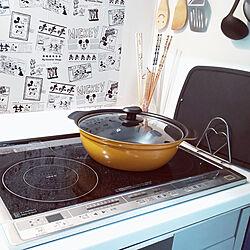 キッチン/ホーロー/ホームセンターで購入/ホーロー鍋24cmのインテリア実例 - 2019-08-23 18:36:06